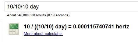 google 10 10 10 day