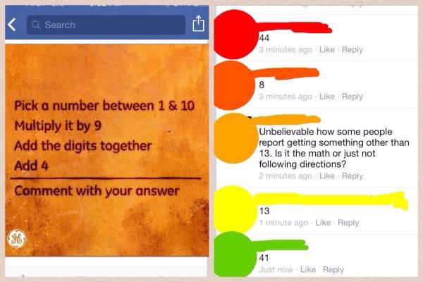Facebook math fail