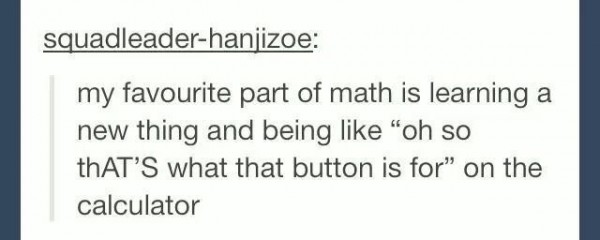 My favourite part of math