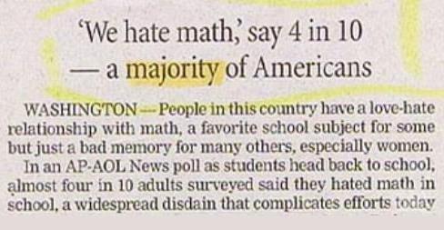 Newspaper Math Fail
