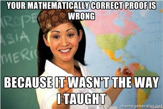 Scumbag Math Teacher