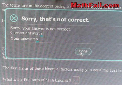 answer fail