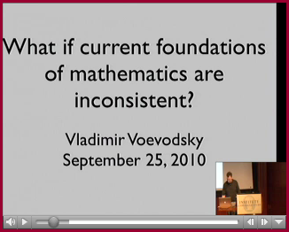 What if Current Foundations of Mathematics are Inconsistent (Video)