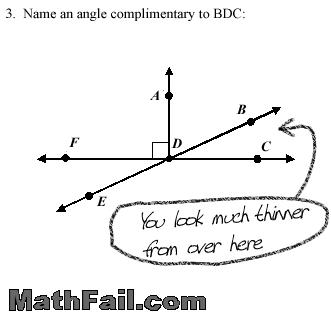 Math Test Fail - Complimentary Angles