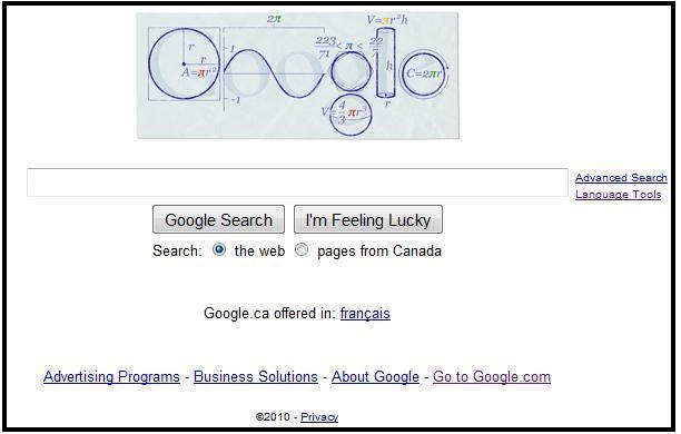 google pi day logo