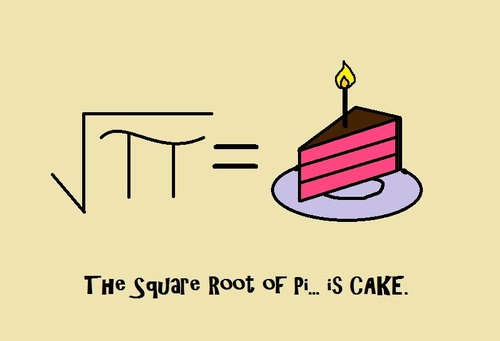 sqrt of pi cake