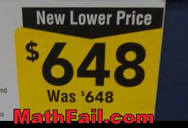 New lower price fail