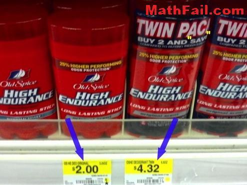 Deodorant pricing fail