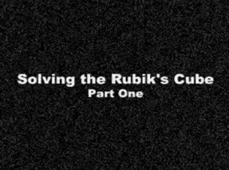 rubiks cube video part 1