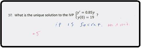 secret math question