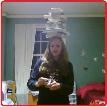 balancing 15 books on my head, reciting pi to the 100th digit, and solving a rubik's cube
