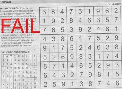 sudoku fail again