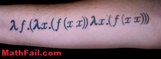 Silly math tattoo