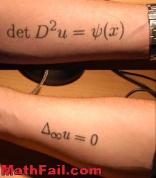 Determinant tattoo