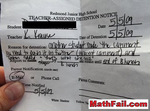 thats what she said detention notice