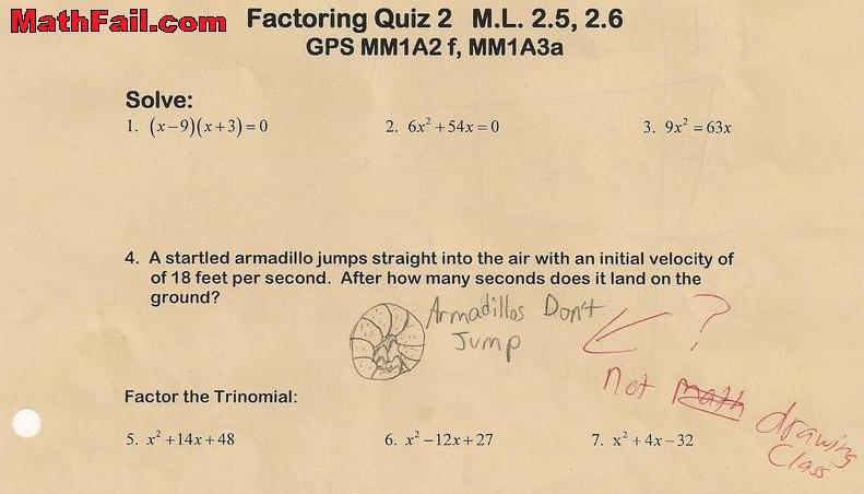 drawing on math test