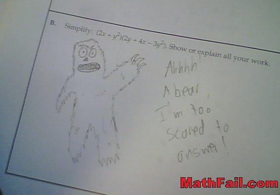 bear on test exam roar