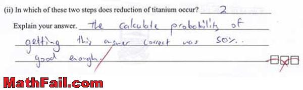probability test exam question fail