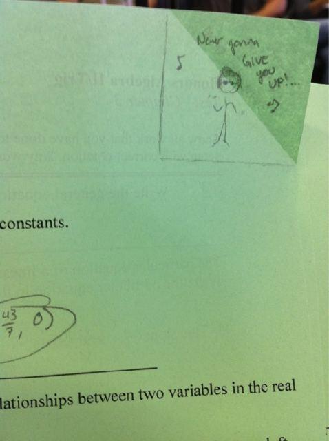 test math fail