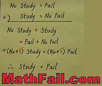 study equals fail