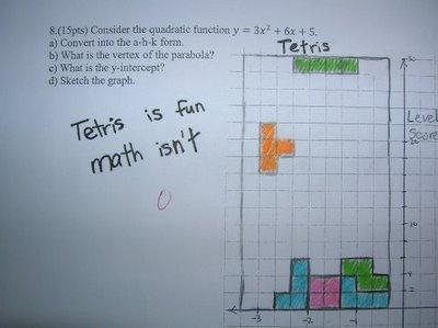 tetris is fun, math isn't